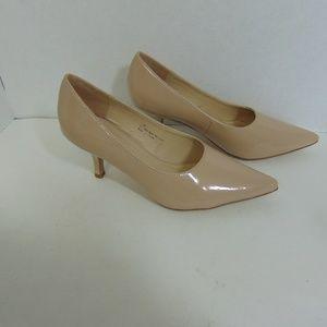 Classique Shoes - Classique Taupe Pumps Pointed Toe Heels Shoes 7.5M